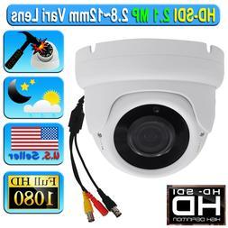 """1/3"""" SONY 1000TVL / 1200TVL 720P 1.3 MP 2.8-12mm Manual Zoom"""