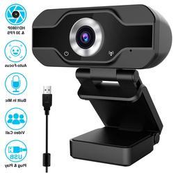 1080 P Full HD USB Webcam for PC Desktop & Laptop Web Camera