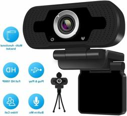 1080 P Full HD USB Webcam for PC Desktop & Laptop Web Camera