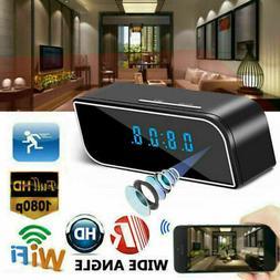 1080P Camera Alarm Clock WiFi Wireless Night Vision Home Sec