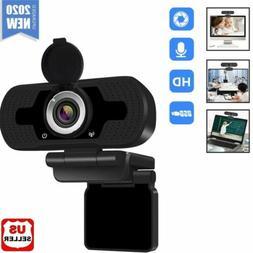 1080P Full HD USB Webcam for PC Desktop & Laptop Web Camera