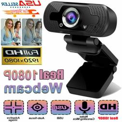 1080P Full HD USB Webcam Web Camera with Microphone for PC D