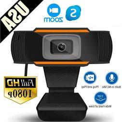 HD 1080p Conferece Webcam Web Camera Video Cam w/ Mic for PC