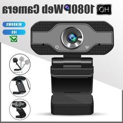 1080p HD Webcam USB Desktop Laptop Camera Video Calling Buil