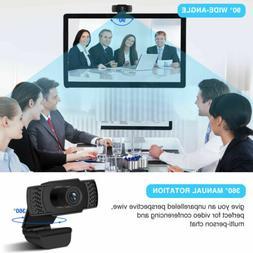1080P HD Webcam Web Camera USB PC Cam Video Calling for Lapt
