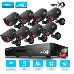 XVIM 1080P HDMI 8CH 4CH DVR Outdoor Surveillance CCTV Securi
