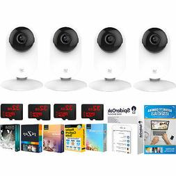 YI 1080p Home Camera 4 Pack Wi-Fi Baby Monitor Security Surv