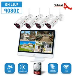 """ANRAN 1080P Home Security Camera System 8CH 15""""LCD With 2TB"""