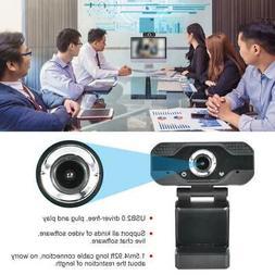 1080P Laptop Computer Video Camera Microphone Online Classes