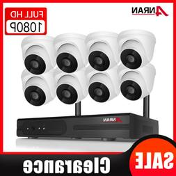 1080P Wireless Camera System Home Security WIFI Kit Audio Re