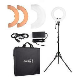 "12"" LED Photography Camera Ring Light Dimmable 5500K Lightin"