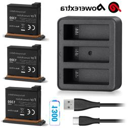 1300mAh Li-ion Battery + 3 Ports Slots Rapid Charger for DJI