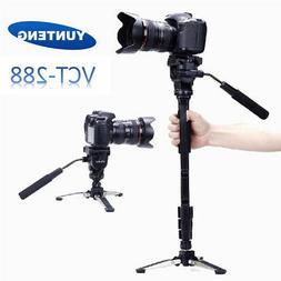 "148cm / 58"" DSLR Camera Tripod Stand Monopod Fluid Pan Head"