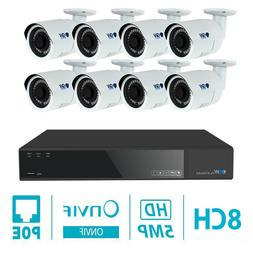 16 Channel 4K NVR 16 X 5MP 1920P PoE IP Camera Outdoor Onvif
