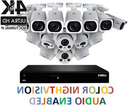 LOREX 16 IP NVR Camera System 4K 8MP Audio 4x Optical Zoom C