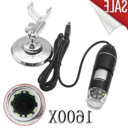 1600X 8LED 2MP USB Digital Microscope Endoscope Zoom Camera