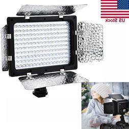 160LED Video Studio Photography Photo Light Panel DSLR Camer