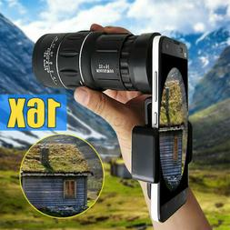 16x52 Monocular Telescope Lens Camera HD Scope Hunting Cell