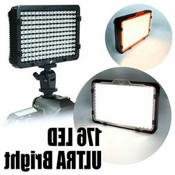 pro 176 New Lighting LED Camera Video Lamp Light for Canon N