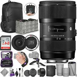 Sigma 18-35mm F1.8 Art DC HSM Lens for Canon DSLR Cameras w/