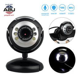 18MP HD Web Camera USB 2.0 Webcam with Microphone LED for PC