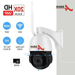 1920P 5MP WiFi Outdoor PTZ Camera Wireless IP Security Syste