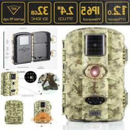 """2.4"""" 1080P Infrared IR 12MP Game Trail Stealth Night Vision"""