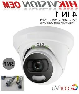 Hikvision OEM 2.8MM 5MP Colorvu Analog HD Turret Camera w/ S