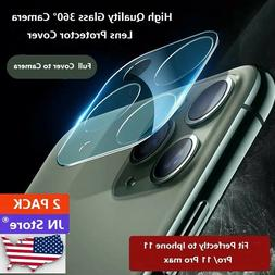 2 PCS  Apple iPhone 11 Pro Max 9H Tempered Glass Rear Camera