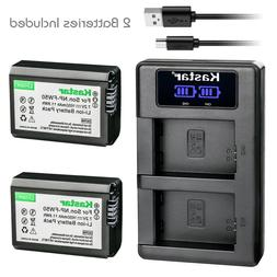 Kastar 2 Battery + Charger For Sony NP-FW50 A6000 A3000 A500