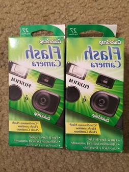 2 Fuji Film Quick Snap Flash Disposable Cameras 27exp New In