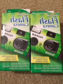 2 Fuji Film Quick Snap Flash Disposable Cameras 27exp New In