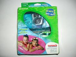 2 IN 1 PACK DISPOSABLE CAMERAS QUICK SNAP WATERPROOF POOL UN