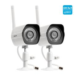 Zmodo 2 Pack 1080P HD Night WiFi Outdoor Home Wireless IP Se