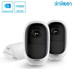 2-Set Wireless IP Security Camera 1080P Rechargeable Battery