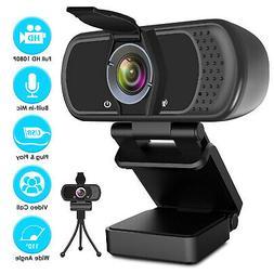 2020 1080P HD Webcam 110° Wide-Angle Laptop Computer Camera