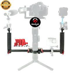 2020 Camera Holder Dual Handheld Grip Extended Bracket Gimba