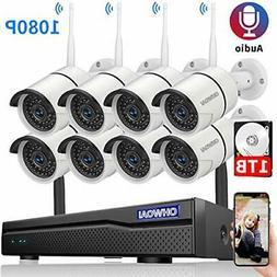 【2020 New】 Security Camera System Wireless, 1TB Hard Dri
