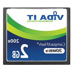 2GB 30MB/s Compact Flash CF Memory Card Record 4K UHD Video