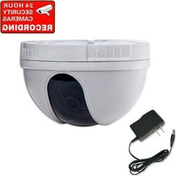 Security Dome Camera w/ Color CCD Wide Angle Lens & Video Ca