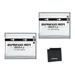 2x LI-50B LI50B Battery + BONUS for Olympus SP-720UZ SP-800U