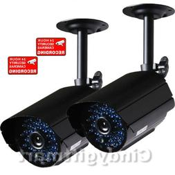 2x Security Camera Color Video Outdoor Day Night Vision CCTV