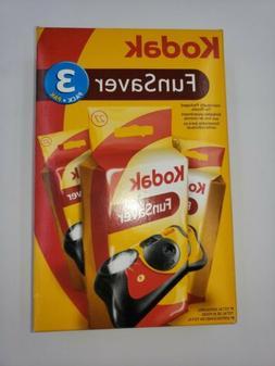 3 Pack Kodak Fun Saver 35 Flash 35mm Cameras In Box