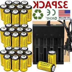 32x Rechargeable CR123A Battery 3.7V Li-Ion for Netgear Arlo