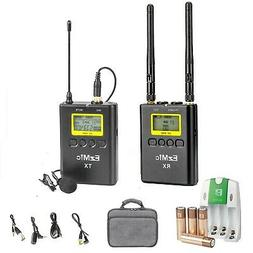 36 Channels UHF Wireless Lavalier Microphone Kit for DLSR So