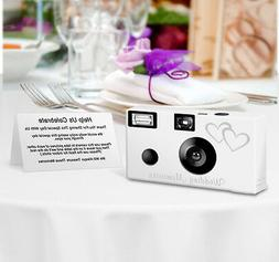10pack PERSONALIZED Double Hearts Disposable Camera, wedding