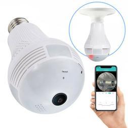 360° HD Wi-Fi Wireless Bulb Security Camera with Two Way Ta