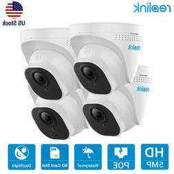 4-pack Reolink 5MP PoE IP Security Camera Waterproof Surveil