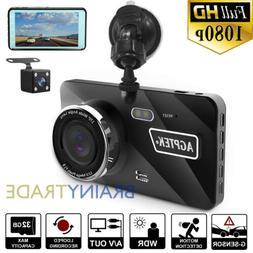 """4"""" Vehicle Dash Cam FHD 1080P Car Dashboard DVR Camera Video"""