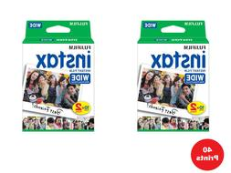 40 Prints Fujifilm Instax Wide Film for Instax 200/210 and 3